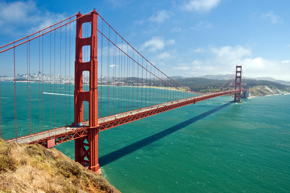 The Golden Gate Bridge in San Francisco, day time
